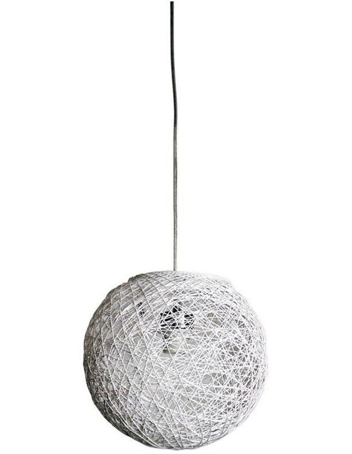 Cocoon White Spun Cotton Pendant Shade Only 30cm image 1