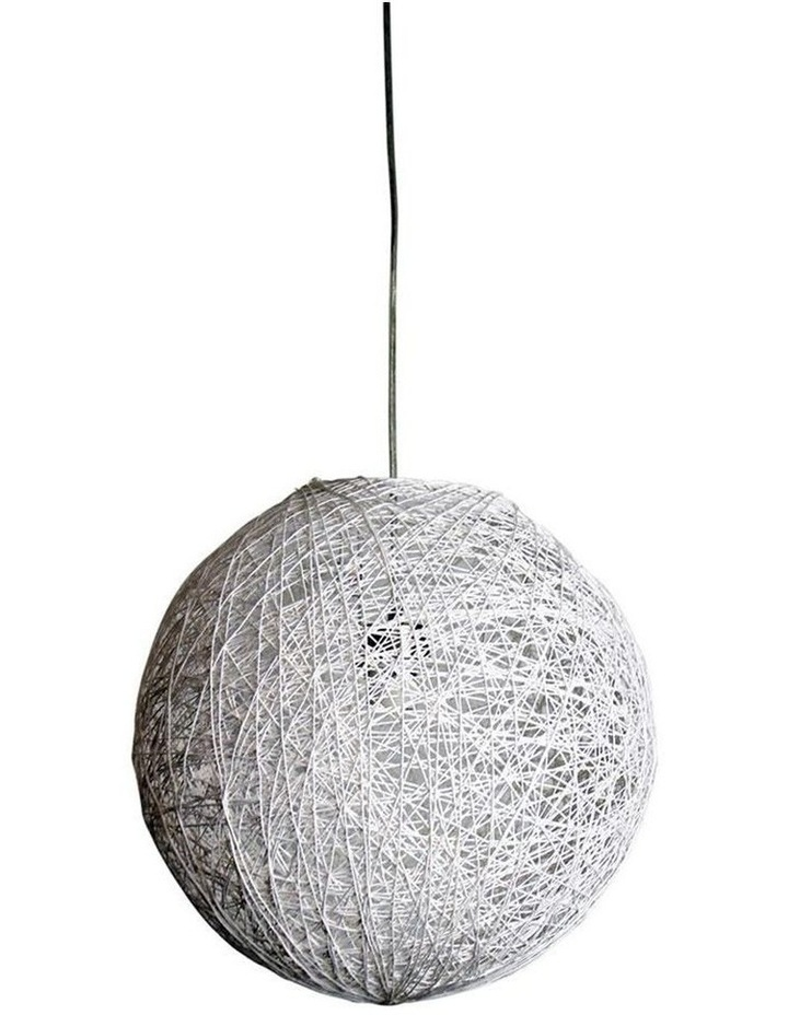 Cocoon White Spun Cotton Pendant Shade Only 40cm image 1