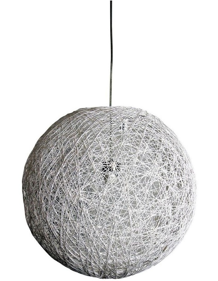 Cocoon White Spun Cotton Pendant Shade Only 50cm image 1