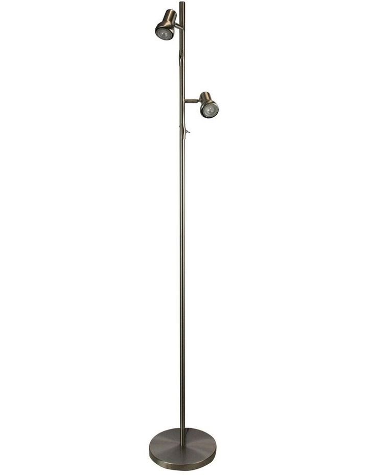 DAXAM LED Twin Adjustable Antique Brass Floor Lamp image 1
