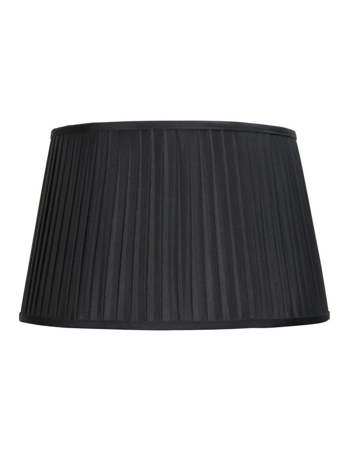 43cm French Pleat Floor Lamp Shade - Black image 1