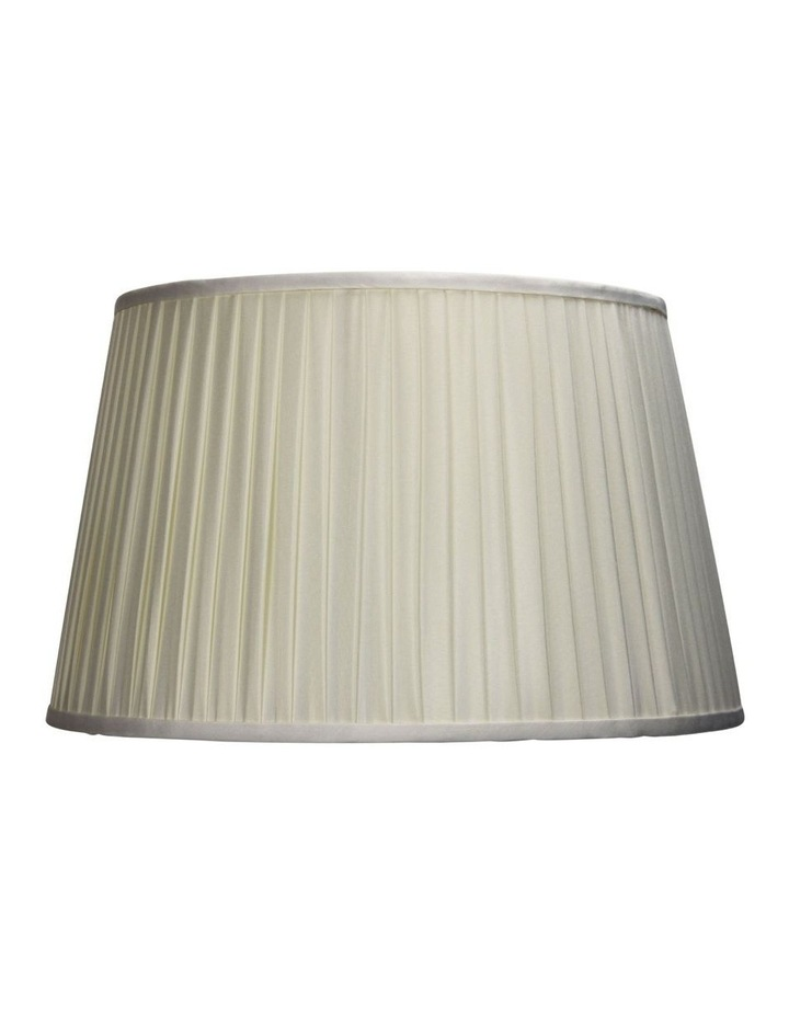 43cm French Pleat Floor Lamp Shade - Off White image 1