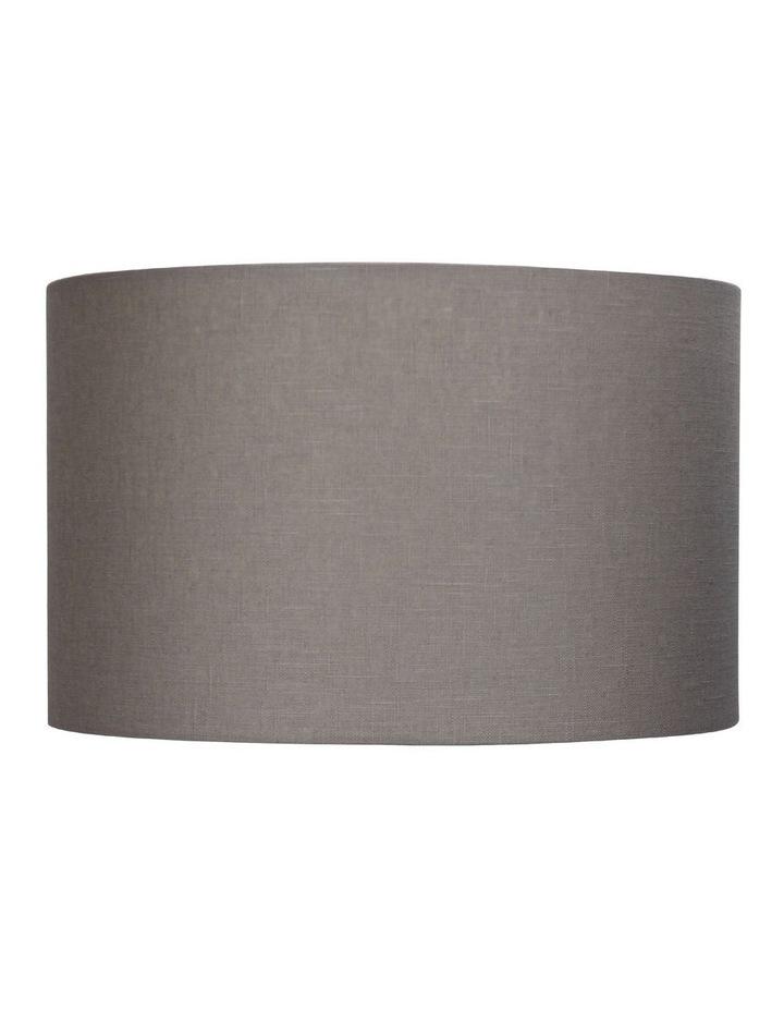 40cm Lamp Drum Shade - Putty Burlap image 1