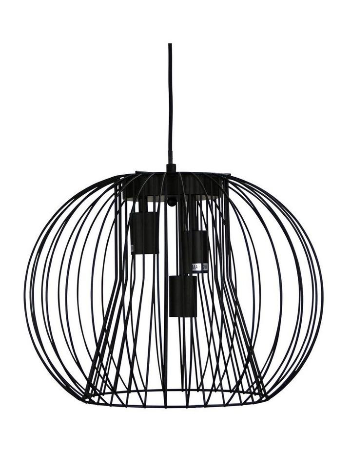 Malo.45 3 Light Wire Pendant Black image 1