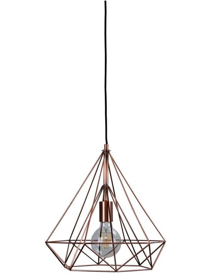 Lenox.38 Antique Copper Wire Pendant image 1