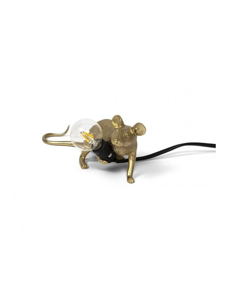 Mouse Lamp Lying - Gold Lop image 1