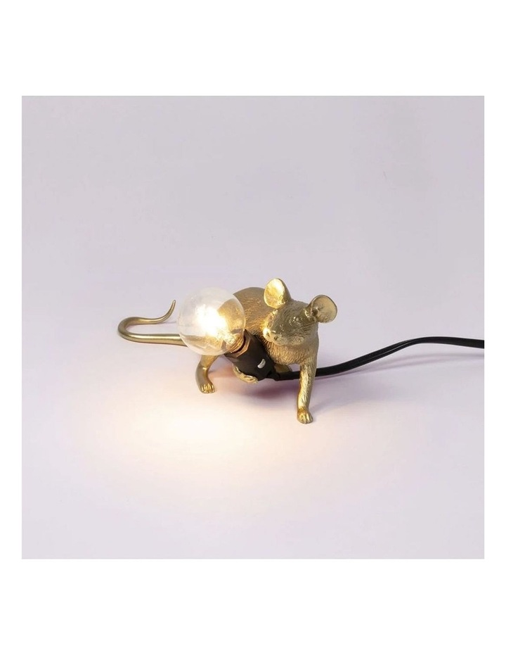 Mouse Lamp Lying - Gold Lop image 2