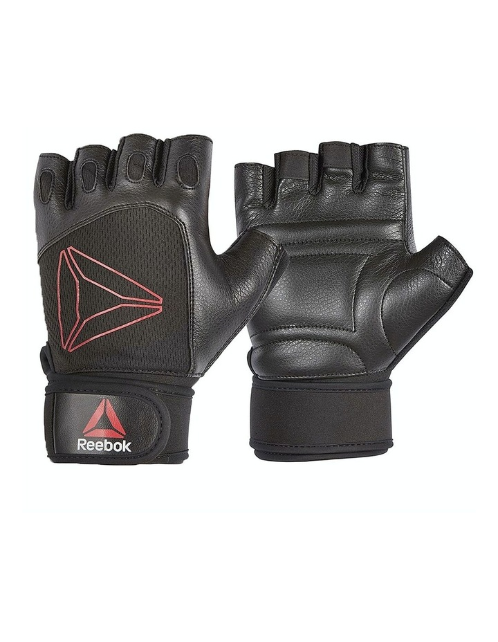 Reebok Lifting Gloves - Black, Red/Small image 1