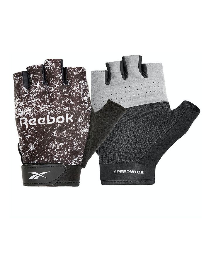 Reebok Womens Fitness Gloves - Black & White/Large image 1