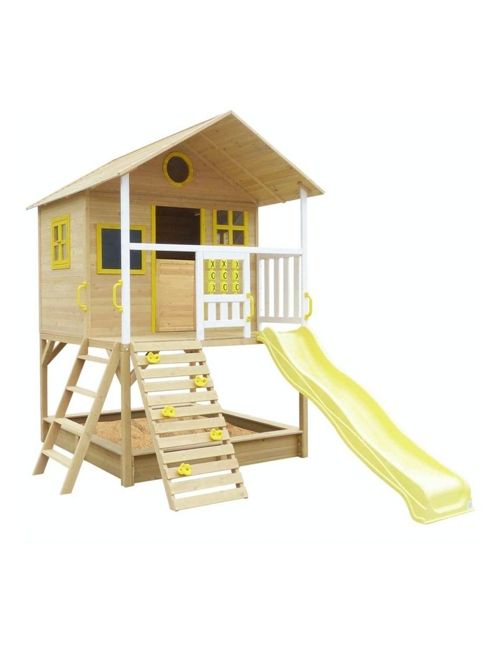 Warrigal Cubby House with Yellow Slide Natural image 1
