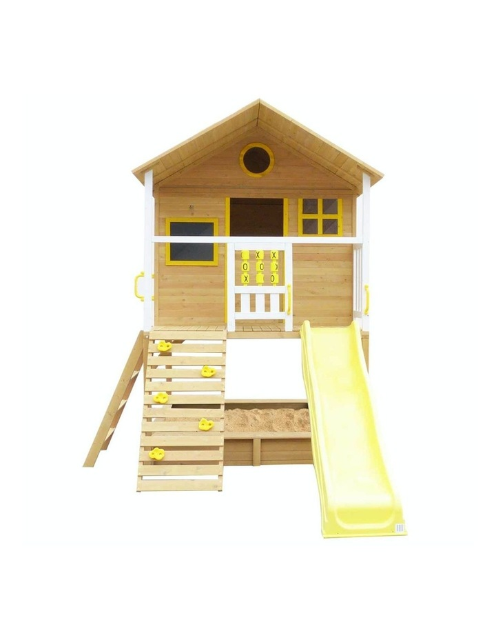 Warrigal Cubby House with Yellow Slide Natural image 2