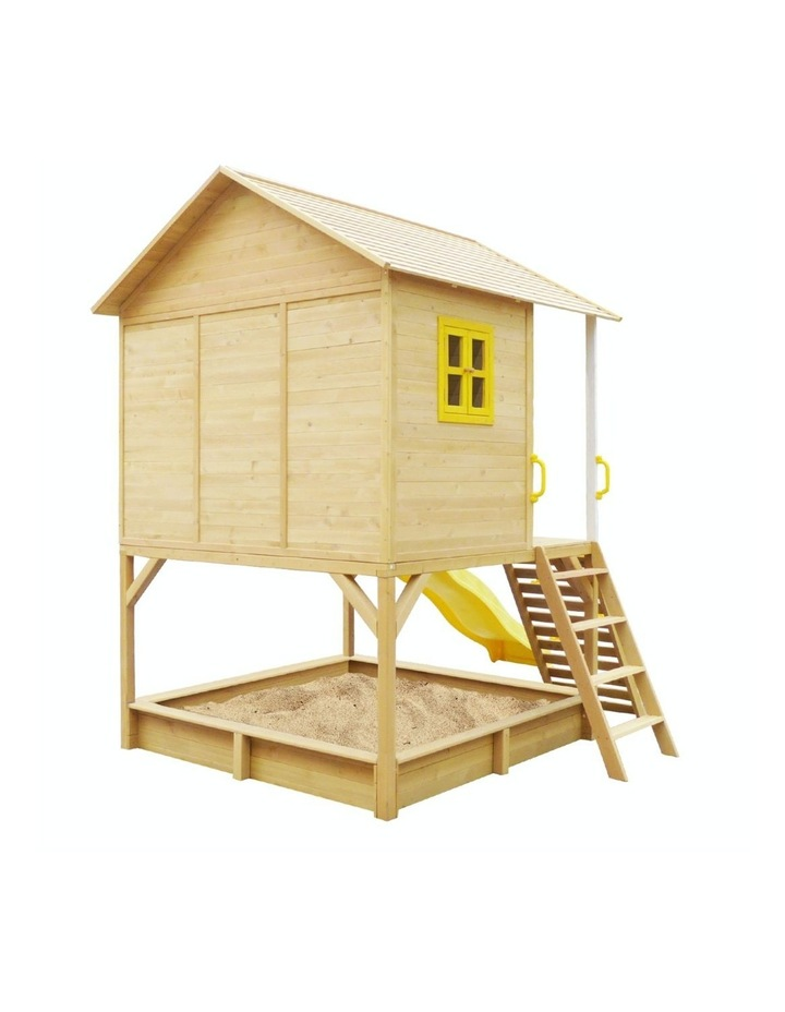 Warrigal Cubby House with Yellow Slide Natural image 3