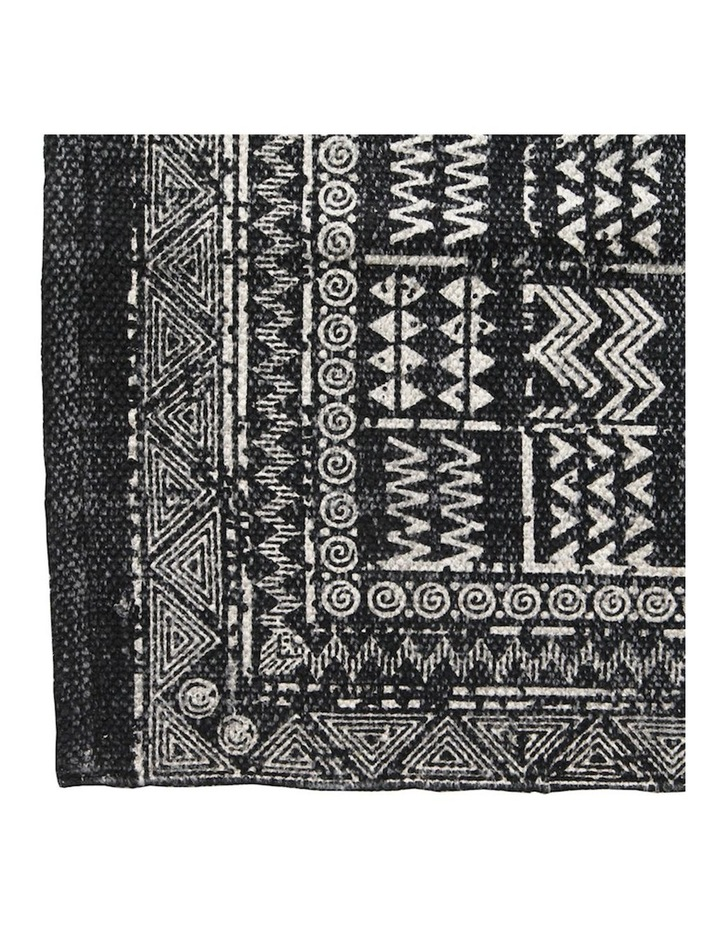 Mudcloth Tribal Runner Charcoal image 4