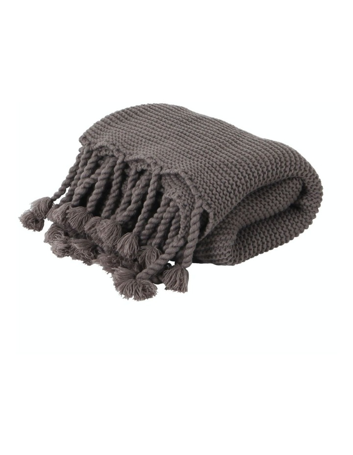 Belle Chunky Knit Throw Grey image 1