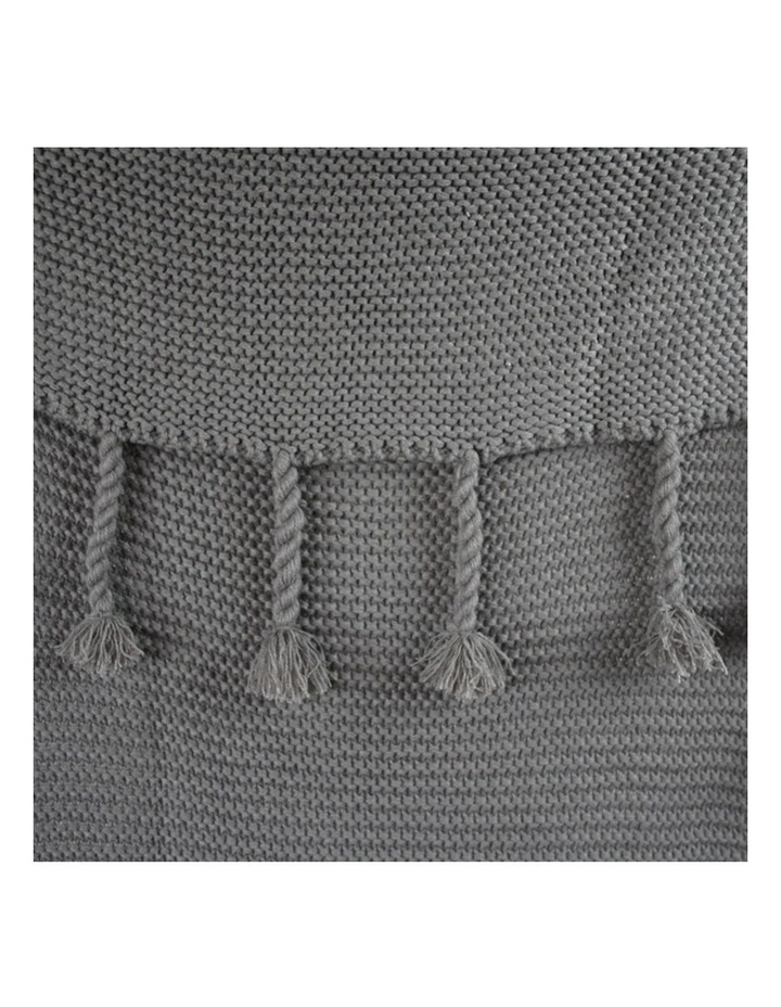 Belle Chunky Knit Throw Grey image 4