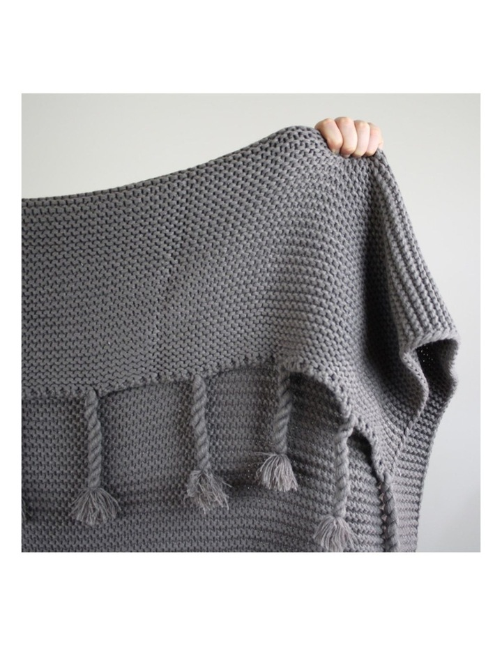 Belle Chunky Knit Throw Grey image 6