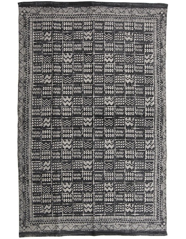 Mudcloth Tribal Rug Charcoal image 1