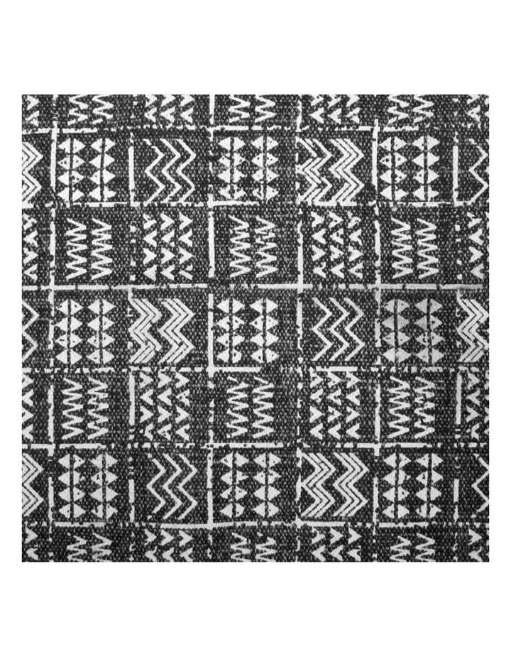 Mudcloth Tribal Rug Charcoal image 3