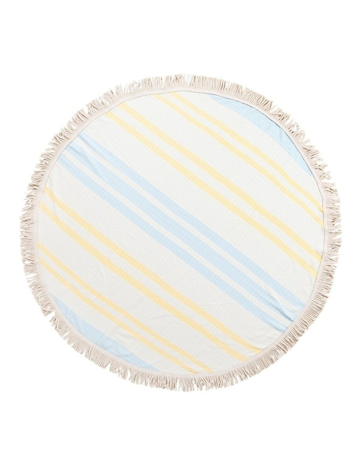 Roundie Beach Rug Yellow and Blue image 1