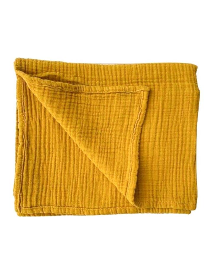 Ivy Baby Blanket - Mustard image 1