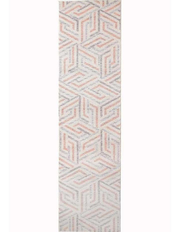 Dimensions Divinity Link Pink Modern Rug image 1