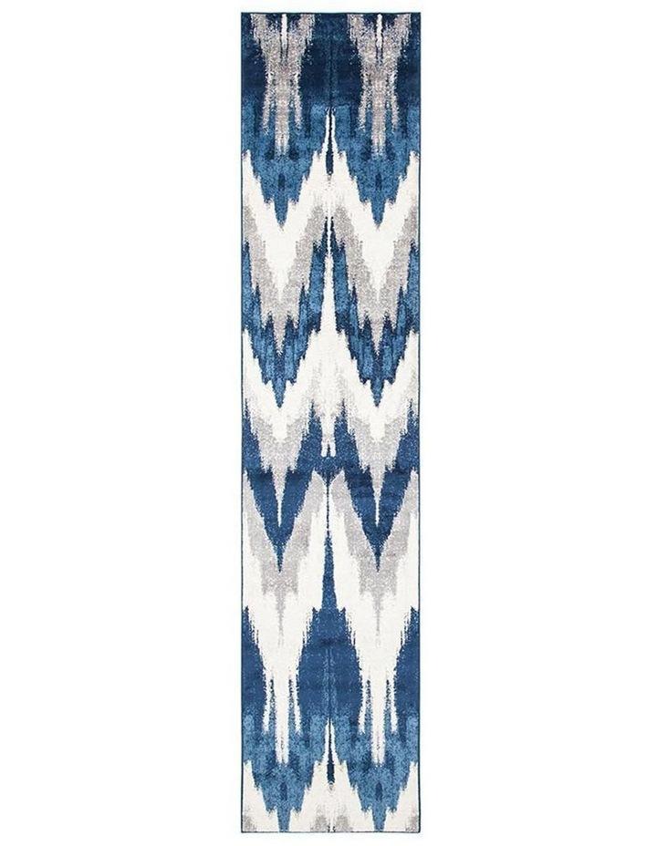 Chelsea Harper Ikat Modern Rug Blue Cream image 1
