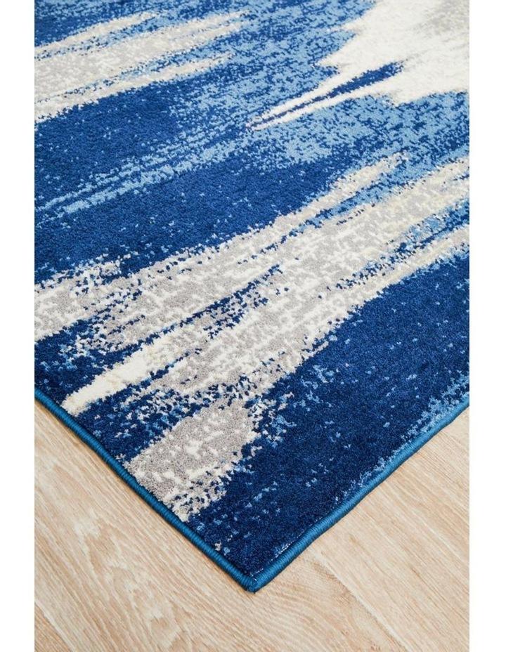 Chelsea Harper Ikat Modern Rug Blue Cream image 3