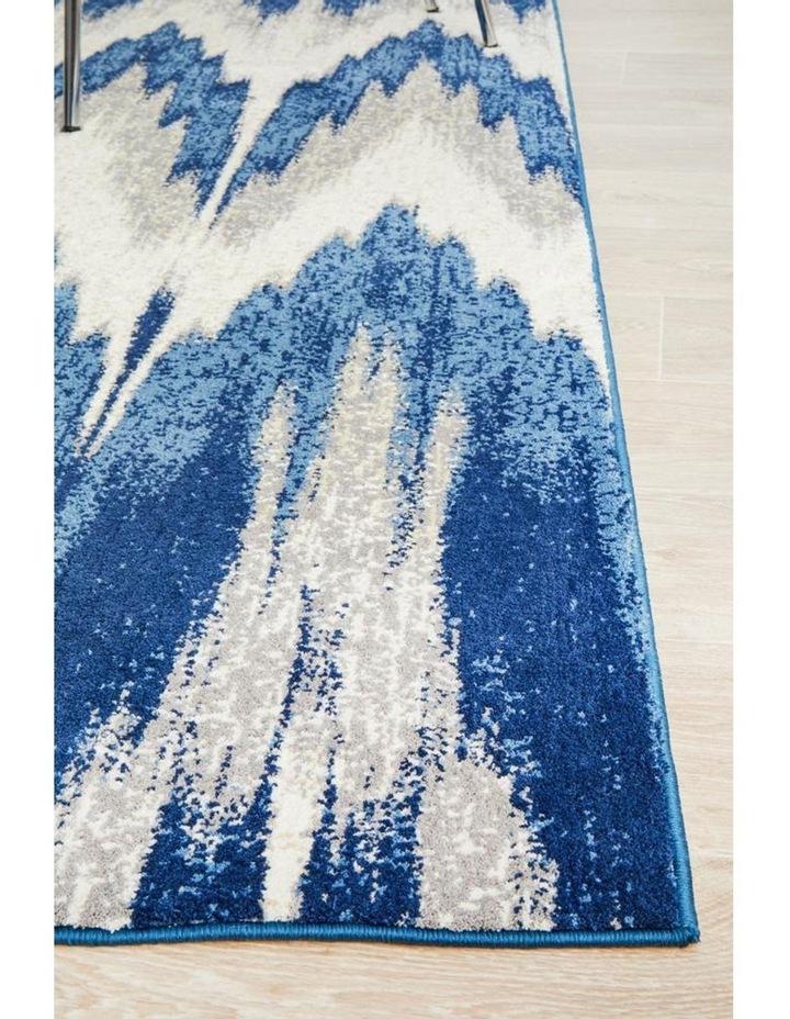 Chelsea Harper Ikat Modern Rug Blue Cream image 4