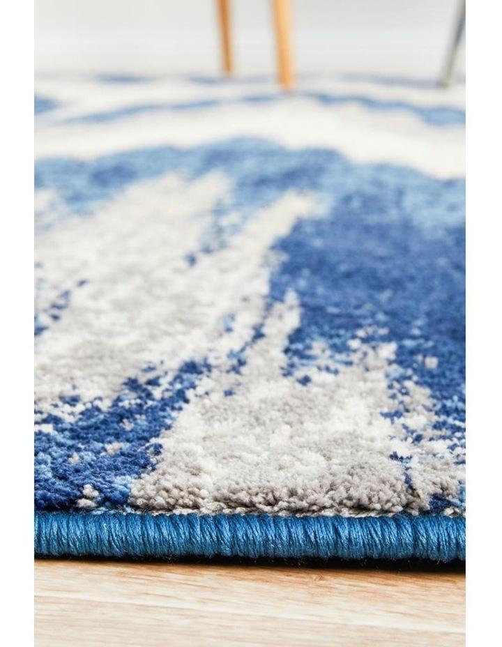 Chelsea Harper Ikat Modern Rug Blue Cream image 5