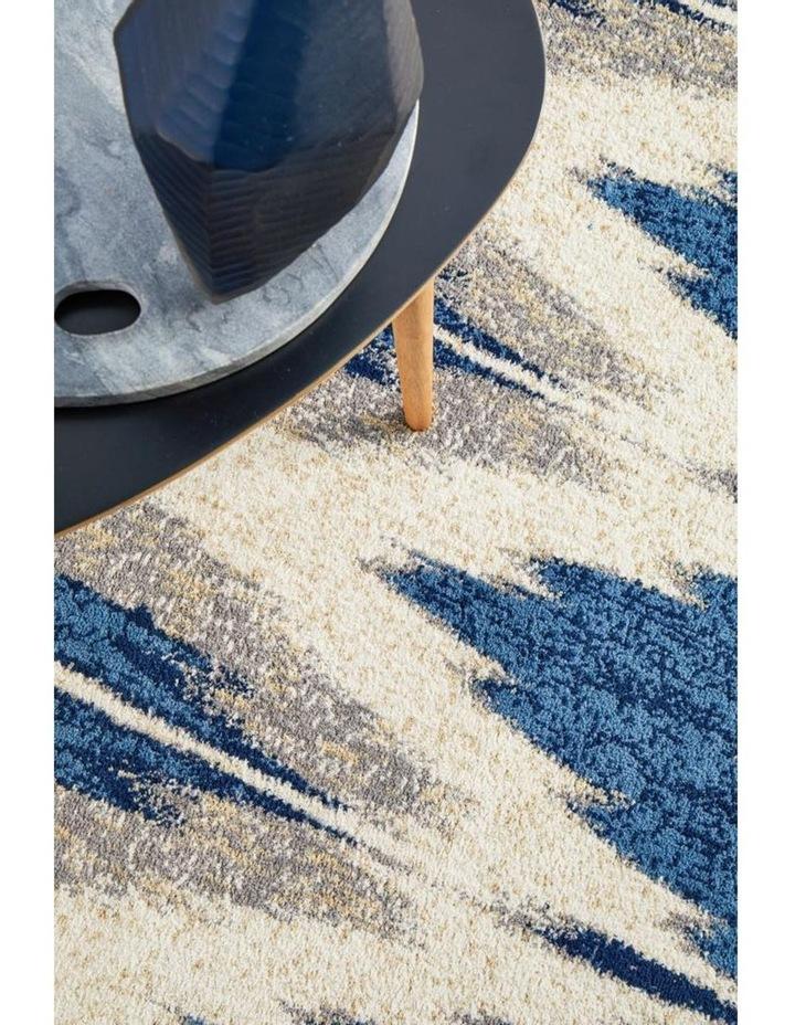 Chelsea Harper Ikat Modern Rug Blue Cream image 6