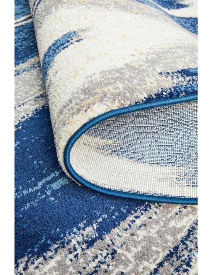 Chelsea Harper Ikat Modern Rug Blue Cream image 7