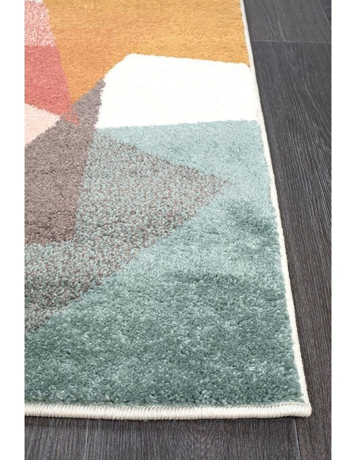 Dimensions Divinity Fragments Teal Modern Runner Rug image 3