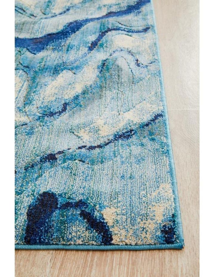 Dreamscape Waves Modern Indigo Runner Rug image 3