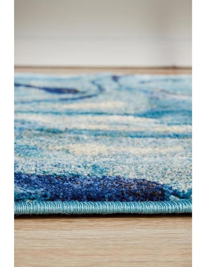 Dreamscape Waves Modern Indigo Runner Rug image 4