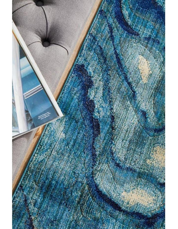 Dreamscape Waves Modern Indigo Runner Rug image 5