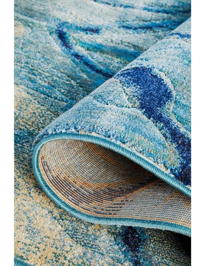 Dreamscape Waves Modern Indigo Runner Rug image 6