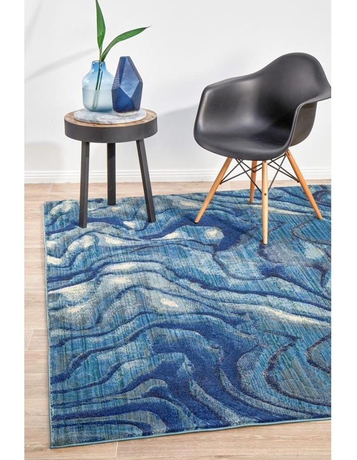 Dreamscape Waves Modern Indigo Rug image 3