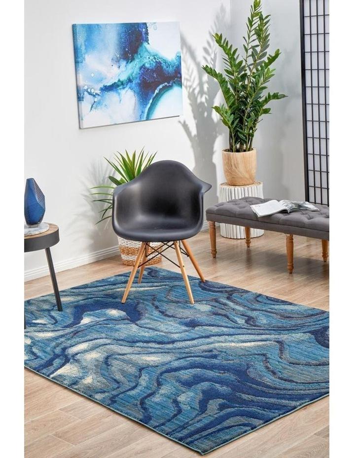 Dreamscape Waves Modern Indigo Rug image 4