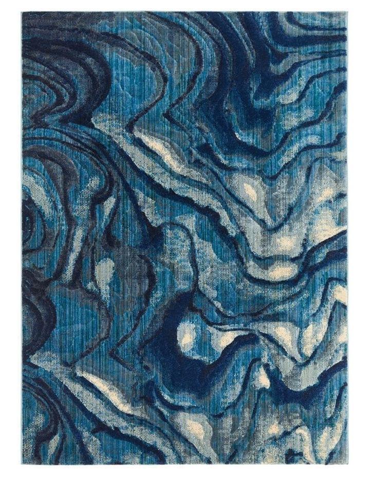 Dreamscape Waves Modern Indigo Rug image 5