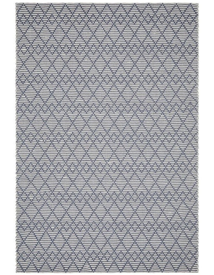 Deepa Stunning Wool Rug Denim Bone image 1