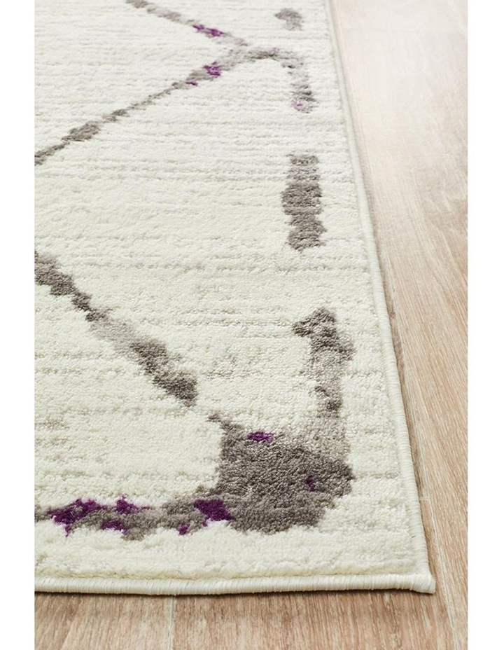 Kendall Contemporary Diamond Rug White Purple Grey image 3