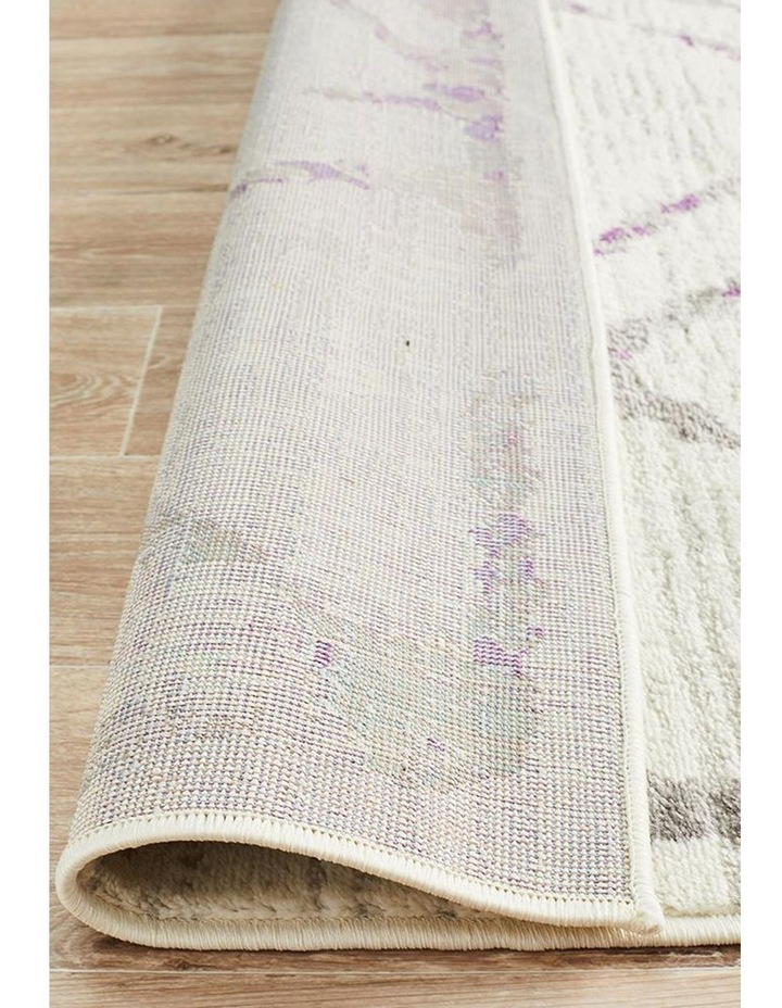 Kendall Contemporary Diamond Rug White Purple Grey image 6