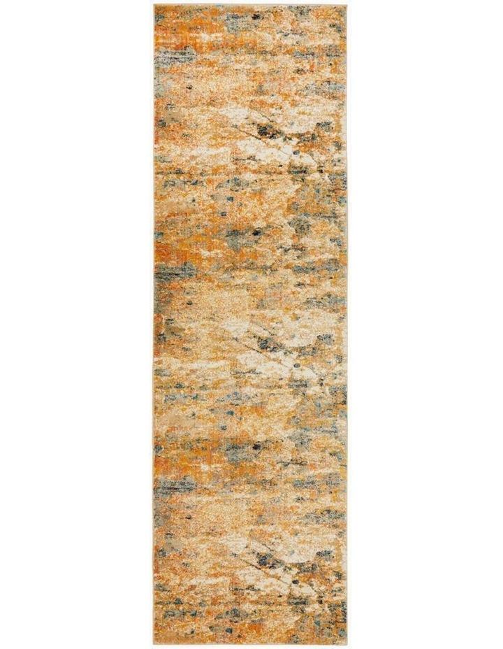 Dreamscape Tribute Modern Rust Rug image 1