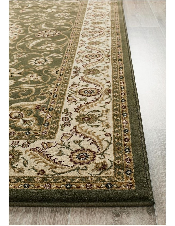 Sydney Collection Medallion Rug Green with Ivory Border image 4
