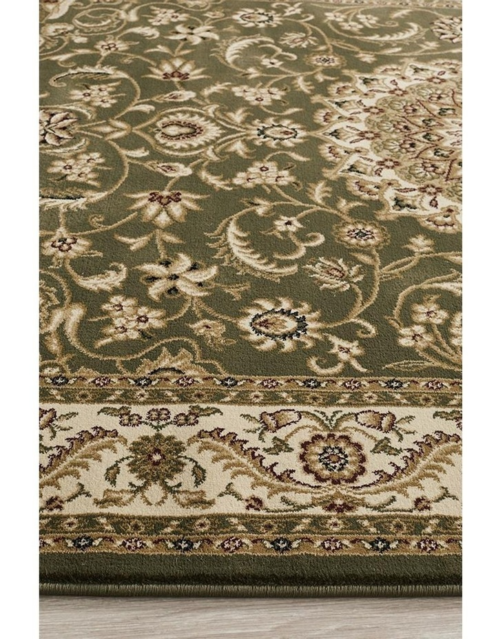 Sydney Collection Medallion Rug Green with Ivory Border image 5