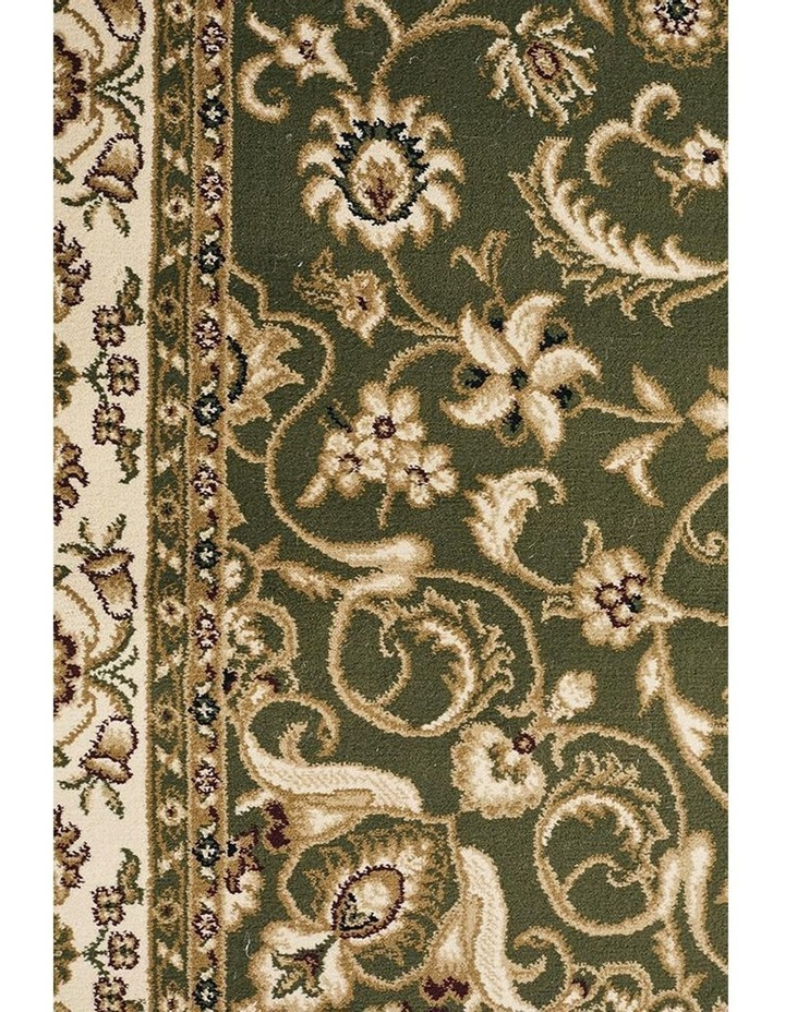 Sydney Collection Medallion Rug Green with Ivory Border image 6
