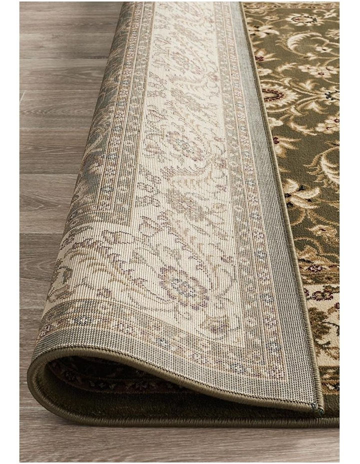 Sydney Collection Medallion Rug Green with Ivory Border image 7