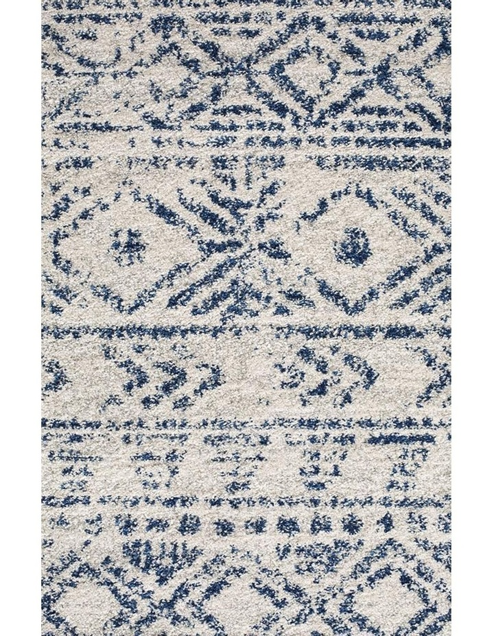 Oasis Ismail White Blue Rustic Round Rug image 3