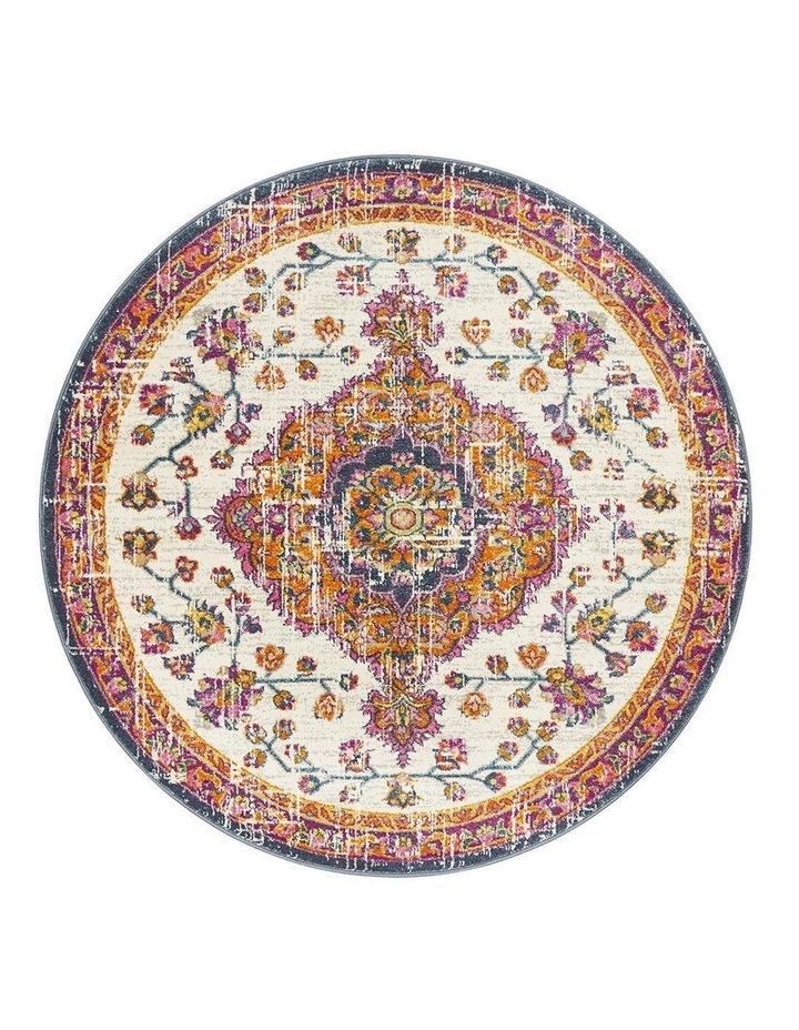 Babylon 205 White  Round Rug image 1