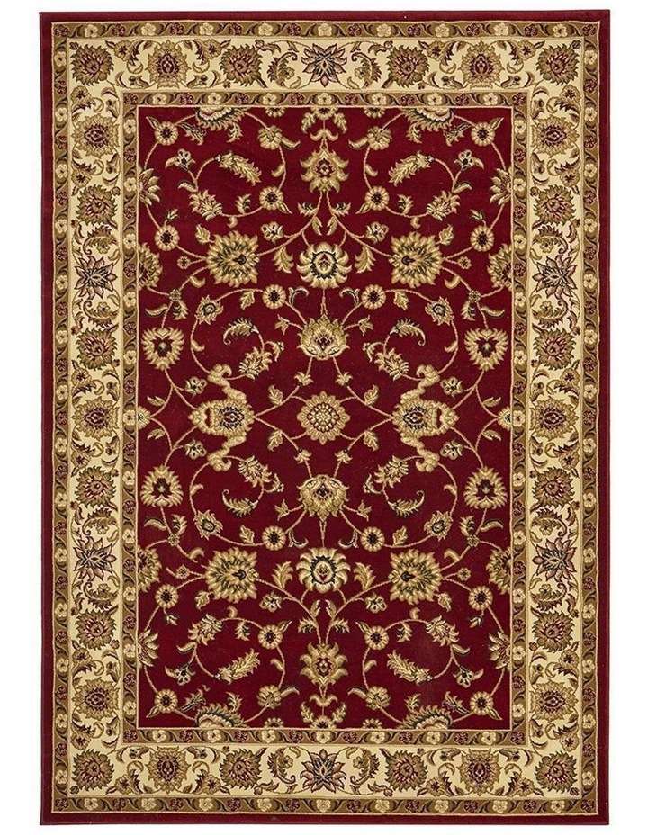 Sydney Collection Classic Rug Red with Ivory Border image 2